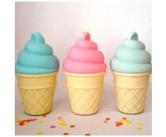A Little Lovely Company LTIP015 - Lámpara en forma de cono helado, color rosa