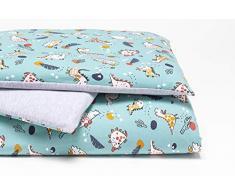 Linden 08604 - Juego de cama infantil (80 x 80 cm), color verde