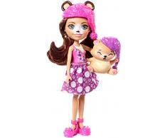 Enchantimals Bren Bear con mascota Snore en dormitorio mágico, muñeca con accesorios (Mattel FRH46)