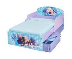 Disney Frozen 516FON - Cama Infantil con Espacio de Almacenamiento Debajo de la Cama, Color Morado