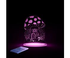 Aloka SleepyLight-Lámpara nocturna en forma de champiñón Vénéneux con mando a distancia, para niños