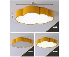 Global- Niños Lámpara de techo Moderno Simple Nube LED Salón Dormitorio Luces Jardín de infantes Dormitorio de los niños Iluminación Parque de atracciones ( Tamaño : Amarillo )