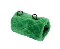Felpa Verde Loro Pajaro Hamaca Colgante Jaula Cueva Acurrucarse Feliz Carpa Cabana Cama Litera Juguete Loro M