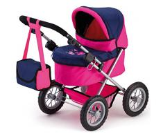 Bayer Design - Cochecito de muñeca, Trendy, color rosa, azul (13013AA)