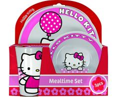 Hello Kitty BBS GO ON - Vajilla infantil, 3 piezas, estampada