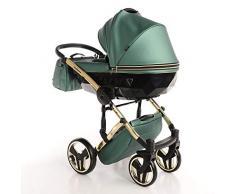 Cochecito de bebé Junama Diamond Fluo Line 2en1 carro duo capazo+silla (verde)