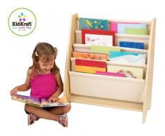 KidKraft Estantería Expositor de Madera, Muebles de Dormitorio para niños, exhibidor de Libros para Almacenamiento, Tela, Beige