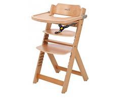 Safety 1st 27630101 Timba - Trona con bandeja, cinturón de 3 puntos, de madera, color natural