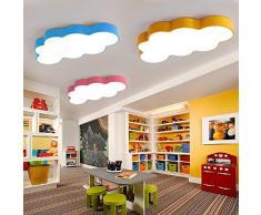 DYBLING Creatividad infantil europea moderna simple lámpara LED Lámpara LED de nubes Niños 50 cm Luz techo azul