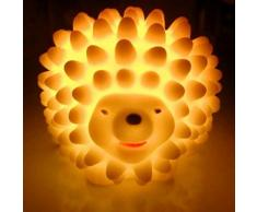 Venta caliente colorido Cute Hedgehog luz nocturna LED escritorio cama lámpara de los niños Niños Regalo