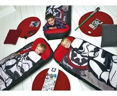 ReadyBed 406SWA - Cama juvenil hinchable y saco de dormir en uno con diseño Star Wars, color blanco