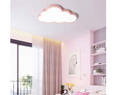 FCX-LIGHT Luz de Techo de vivero,Plafón Infantil LED Luz de Techo de Nubes,lámpara de la habitación de los niños niña de Dibujos Animados,Pink,36W19.6 * 11in