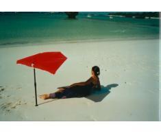 – Playa de Baño – Compartimiento de jardín – Exterior – Sombrilla con base de aluminio Multi Soporte + mesa de silla.Pinza para balcón 35 mm spannbacken con protector de goma + 2 Wind – Arnés de protección