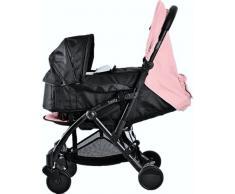 Pack Duo Nacelle Trinity 2 cochecito 0/3ans Ultra ligera 5,5 kg ultra compacta (tamaño de equipaje de cabina avión + portabebés blanda Ultra ligera 2 kg plegable 0/9 kg (Pink Rose)