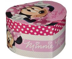 Joyero con forma de corazón y música, diseño de Minnie Mouse