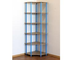 MODO24 Tubo Oficina estante estantería (Estantería esquinera ancho 56 estante negro 6 estantes Dedal de 6 W