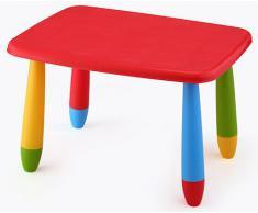 Mesa infantil desmontable, Rectangular, para niños Roja