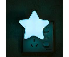luz nocturna para niños Baby Noche Lámpara enchufe lámpara LED nocturna con automática de la intensidad luz luz luz nocturna lámpara Estado de Ánimo de repetición difusa estrellas forma Multi Color lámpara para jóvenes