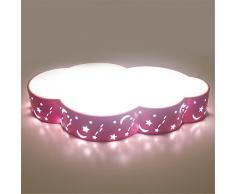 XBLIGHTING LED Moderno colgante de techo de montaje empotrado Accesorios Niños de luz LED de luz de lámpara de techo Lámpara de techo simple Romántica habitación Niños nubes rosadas Luces de techo (110V-240V), 52CM, 24W luz blanca