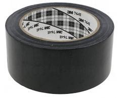 3M 764I - Cinta adhesiva de vinilo, 50 mm x 33 m, color negro