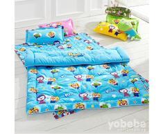 [Yobebe] Pororo niño algodón tamaño fina ropa de cama colcha edredón magmle recela Pororo cablefinder animación Cartoon character fino acolchado para niños Corea