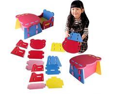 Juego de muebles para niños con silla y mesa de goma EVA de fácil montaje de la marca Outgeek