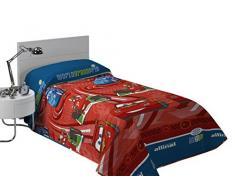 Export Trading Disney-Colcha de coprileto con diseño Cars, 260 x 180 cm, Microfibra, Unico, 260x180x2 cm