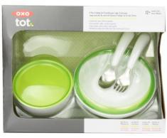 OXO Tot - Vajilla infantil de 4 piezas, color verde