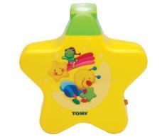 Tomy 40962 Lámpara Estrellita - Lámpara nocturna con proyector para niños, color amarillo