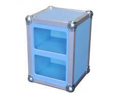 Grave azul mesilla de noche armario