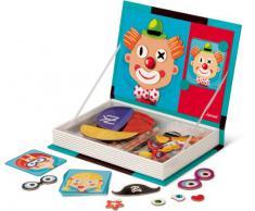 Janod J05545 Magnetibook Crazy Faces - Juguete con piezas magnéticas (madera), diseño de diferentes rostros