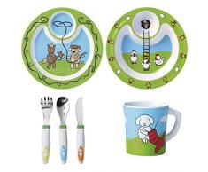 Emsa 509096 Vajilla infantil, plástico, diseño de animales de granja