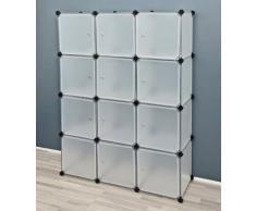 Estantería o armario en blanco traslúcido para oficina o habitación infantil o salón