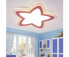lámpara de LED Star Boy criadas dormitorios cálidos y fáciles de Creative Nubes jardín de infancia los niños de la lámpara de techo de luz, de color amarillo