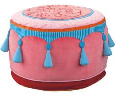 Haba 8117 - Taburete acolchado infantil, color rosa