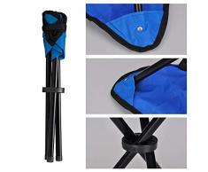 HLONG 3 Piezas Taburete Plegable de Campamento | Estable y liviano - para Acampar, Cazar y Actividades al Aire Libre Práctica Sillita Trípode fácil de Transportar,23 * 23 * 28cm