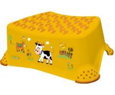 OKT Kids 18642456063 - Taburete escalón para niños, diseño de granja, color naranja
