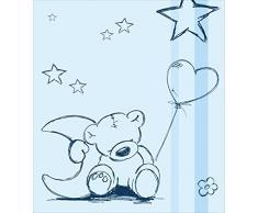 STIKKIPIX Teddy Azul Pegatina de Muebles | M4K18 | Pegatinas adecuadas para la cómoda MALM con 4 Compartimentos de IKEA (el Mueble no es Incluido)