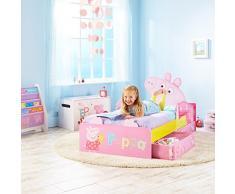 Peppa Pig 509PED - Cama infantil con espacio de almacenamiento debajo de la cama, color rosa