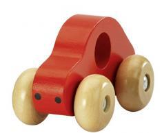Fashy 1903 60 Coche de juguete hecho de madera rojo
