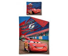 Maxi & Mini - Cars Flash McQueen con Francesco Bernoulli Juego Ropa De Cama De funda nórdica de 140 x 200 + funda de almohada 70 x 80 (16dc)