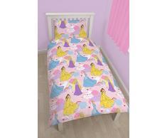 Character World Disney Princess Enchanting - Juego de ropa de cama individual, diseño de Princesas, multicolor