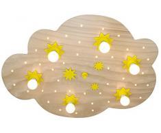 Lámpara de techo 6-focos nube de estrellas