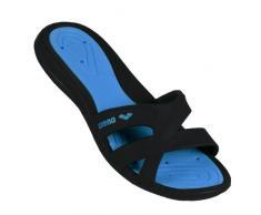 Arena Athena Woman Hook Zapatos de playa y piscina, Mujer, Negro (Black/Turquoise 083), 38 EU (5 UK)