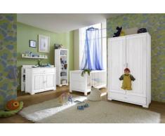 Habitación del bebé decorativo completamente cuna cambiador armario Madera maciza de pino, color: madera lacada