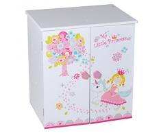 Knorr 67307 My Little Princess - Armario de juguete, color blanco