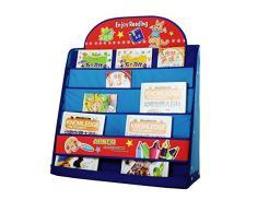 Los fondos de la biblioteca desde Habitación 4 A Levels una revista del estante de los niños Organizador Range-libros 64,5 × 20 × 74,5CM Tela