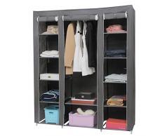 Songmics Armario Closet organizador Textil Plegable Color Gris 175 x 150 x 45 cm LSF03G