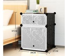 Global-DIY Gabinete de cabecera simple Simple y moderno Mini armario de resina creativa Armarios de almacenamiento ensamblado con puertas, mesita de noche para niños ( Tamaño : 39*37*57cm-#1 )