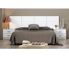 Hogar24.es-Conjunto dormitorio de Matrimonio Smarty: Cabecero+2 mesitas color blanco